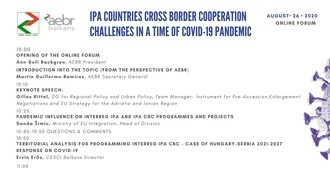 IPA COUNTRIES CROSS BORDER COOPERATION CHALLENGES IN A TIME OF COVID-19 PANDEMIC
