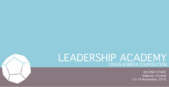 The Second Stage of the Leadership Academy for CBC in Croatia